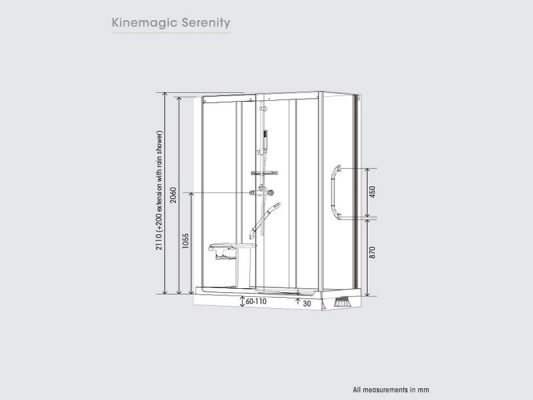 Kinedo KineMagic Serenity Measurements Img01