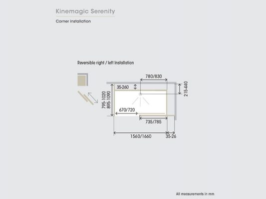 Kinedo KineMagic Serenity Measurements Img02