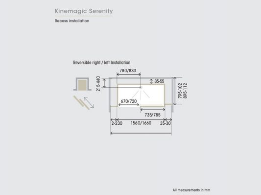 Kinedo KineMagic Serenity Measurements Img03