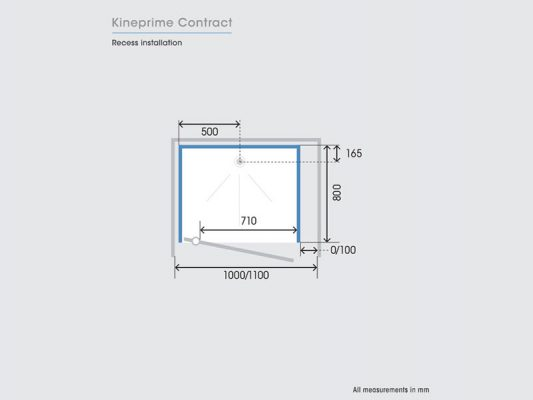 Kinedo KinePrime Contract Measurements Img02