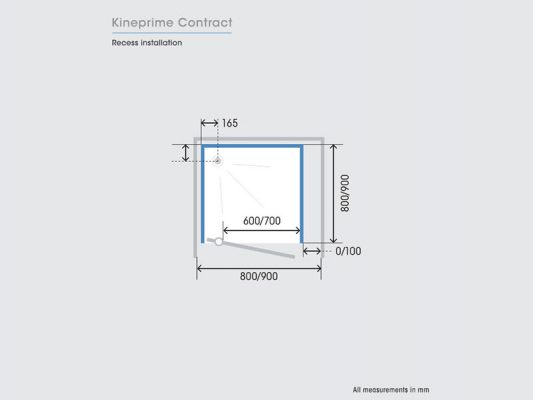 Kinedo KinePrime Contract Measurements Img04