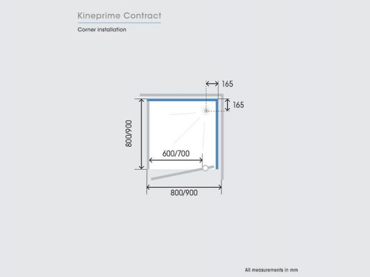 Kinedo KinePrime Contract Measurements Img05