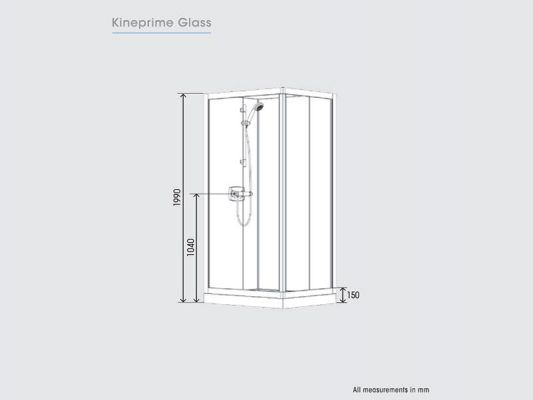 Kinedo KinePrime Glass Measurements Img02