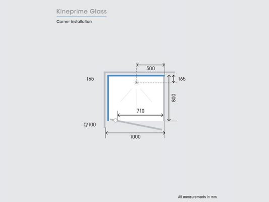 Kinedo KinePrime Glass Measurements Img06
