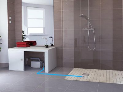 Grey water systems saniflo grey water systems - Douche italienne ouverte ...
