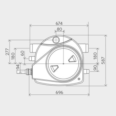 Sanifos 110 Pumping Station Dimensions Img02
