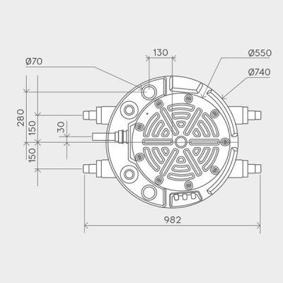 Sanifos 250 Pumping Station Dimensions Img02