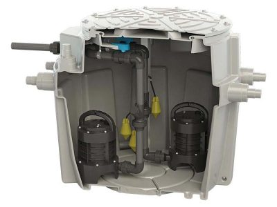 Sanifos 500 Three Phase Pumping Station Img01