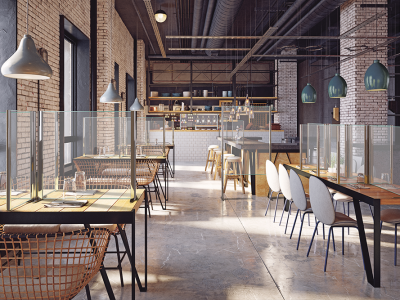 kineprotect glass screen restaurant